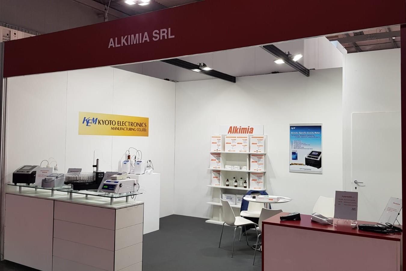 Lo stand di Alkimia Srl al SIMEI 2019 di Milano Rho